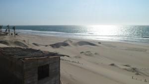 在秘鲁北部的曼科拉海滩